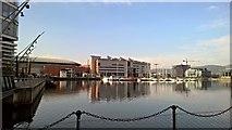 J3475 : Belfast inner harbour dockside by Chris Morgan