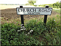 TM1691 : Church Road sign by Adrian Cable