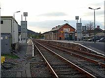 SH5639 : Porthmadog main line station by John Lucas