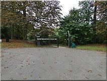 TM1763 : Debenham Millennium Gates by Adrian S Pye
