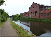 SJ3494 : Factory next to the Leeds and Liverpool Canal by Mat Fascione