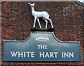 TM4575 : Sign on the White Hart Inn, Blythburgh by JThomas