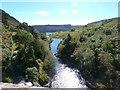 SN8968 : Water flow into the Pen-y-Garreg reservoir from the outlet of the Craig Goch dam by Derek Voller