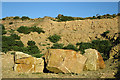 NJ1670 : Sandstone Blocks by Anne Burgess