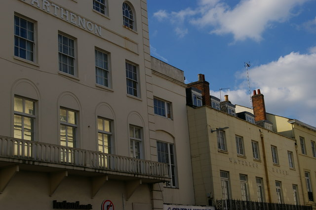 Regency frontages, Bath Street, Leamington Spa