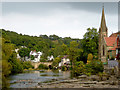 SJ2142 : The River Dee at Llangollen, Denbighshire by Roger  Kidd
