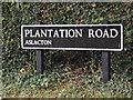 TM1590 : Plantation Road sign by Adrian Cable