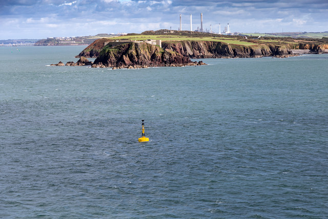 Thorn Rock west cardinal buoy
