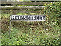 TM1587 : Hales Street sign by Adrian Cable
