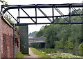 SJ3496 : Pipebridge across the Leeds and Liverpool Canal, Bootle by Mat Fascione