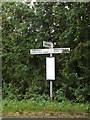 TM1187 : Signpost on Goose Green by Adrian Cable
