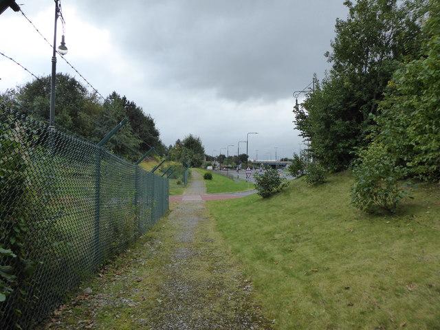 Public footpath off Trafford Boulevard B5214