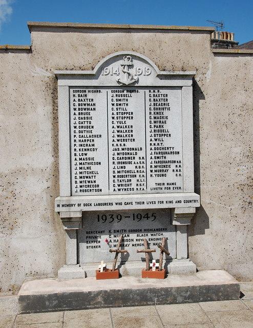 Dock workers' memorial, Footdee