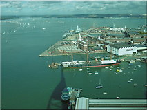 SU6200 : View from the Spinnaker Tower over the Historic Dockyard by Marathon