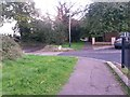 SZ1294 : Townsend: the Throop Road end of footpath K47 by Chris Downer