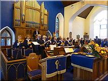 H4472 : The choir - Trinity Presbyterian Church, Omagh by Kenneth  Allen