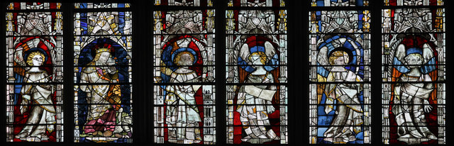 Detail of Great East Window, Gloucester Cathedral