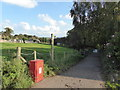 SJ8149 : Wood Lane: footpath off Apedale Road by Jonathan Hutchins