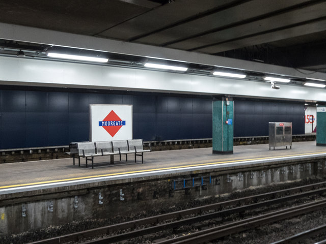 Station Sign, Moorgate,  London, EC2