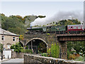 SD7915 : Flying Scotsman at Brooksbottoms Viaduct by David Dixon