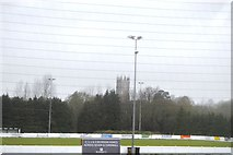 ST0207 : Cullompton Church seen across the football pitch by N Chadwick