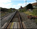 SN6096 : Railway west from level crossing to station, Aberdovey by Jaggery