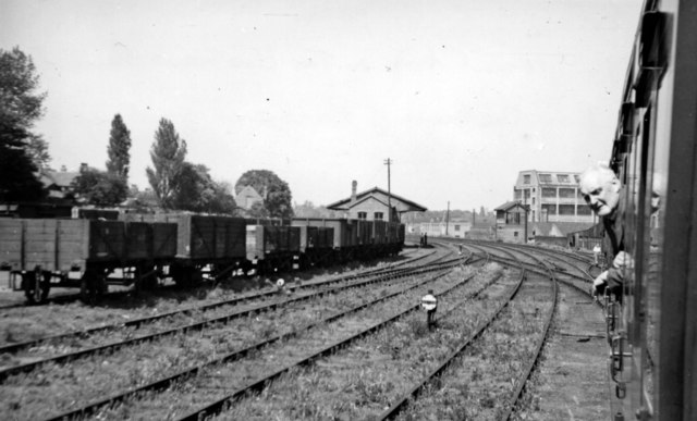 Approaching Harborne station, 1950