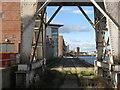 NT2776 : Travelling crane track at Albert Dock by M J Richardson