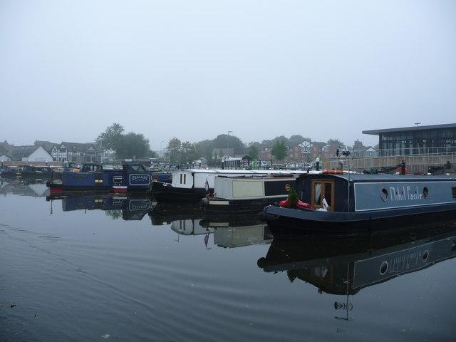 Narrowboat moorings, Weaver Navigation, Northwich