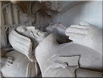 SO4465 : Effigies of Sir Richard and Eleanor Croft by Philip Halling