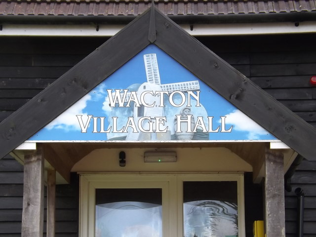 Wacton Village Hall sign