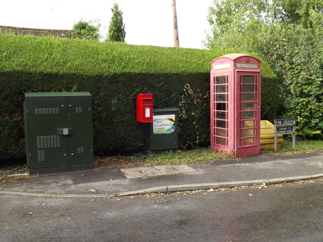 The Green Postbox & Telephone Box
