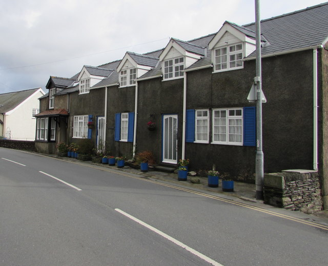 Blue shutters and blue tubs, Terrace Road, Aberdovey