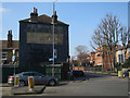 TQ2573 : Old sign by Merton Road by Hugh Venables