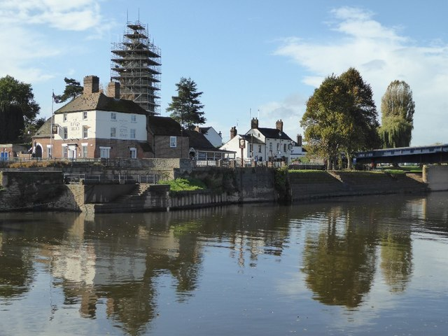 Upton upon Severn viewed from across the river