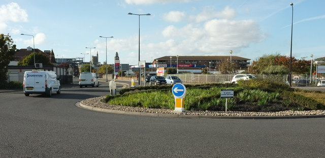 Roundabout near Weston-Super-Mare station