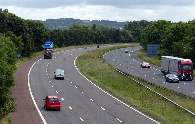 M58 motorway towards junction 4