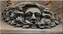 TF3244 : Boston, St. Botolph's Church: Green man carving by Michael Garlick