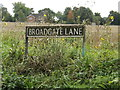 TM1689 : Broadgate Lane sign by Adrian Cable