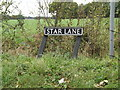 TM1787 : Star Lane sign by Adrian Cable