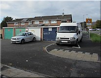 ST2894 : Lockup garages, St Dials, Cwmbran by Jaggery