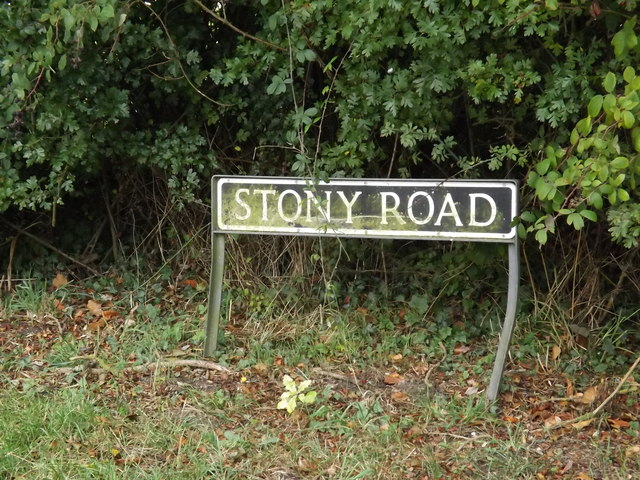 Stony Road sign