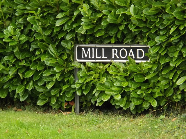 Mill Road sign