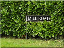 TM1686 : Mill Road sign by Adrian Cable