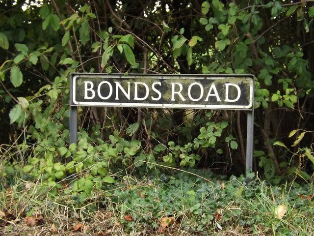Bonds Road sign