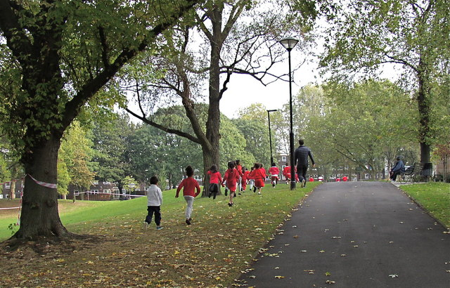 School keep-fit on Westbourne Green