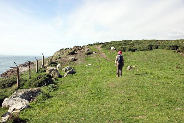 The Anglesey Coastal Path at Porth Saint