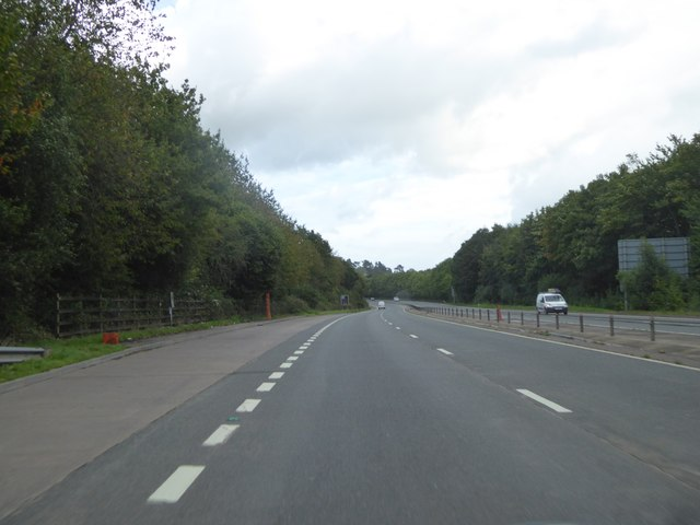 Lay-by by A449 northbound near Cat's Ash
