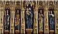 TA3122 : Patrington, St. Patrick's Church: Detail of the J Harold Gibbins reredos erected in 1936 3 by Michael Garlick