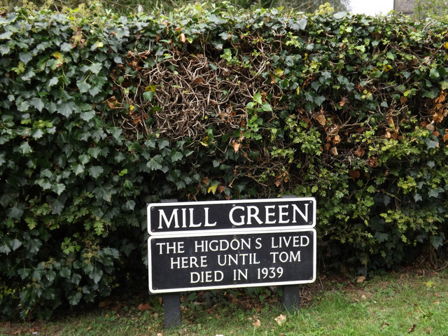 Mill Green sign